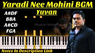 Yaaradi Nee Mohini - Enkeyoo Partha  BGM | YUVAN | Musical Notes 4u