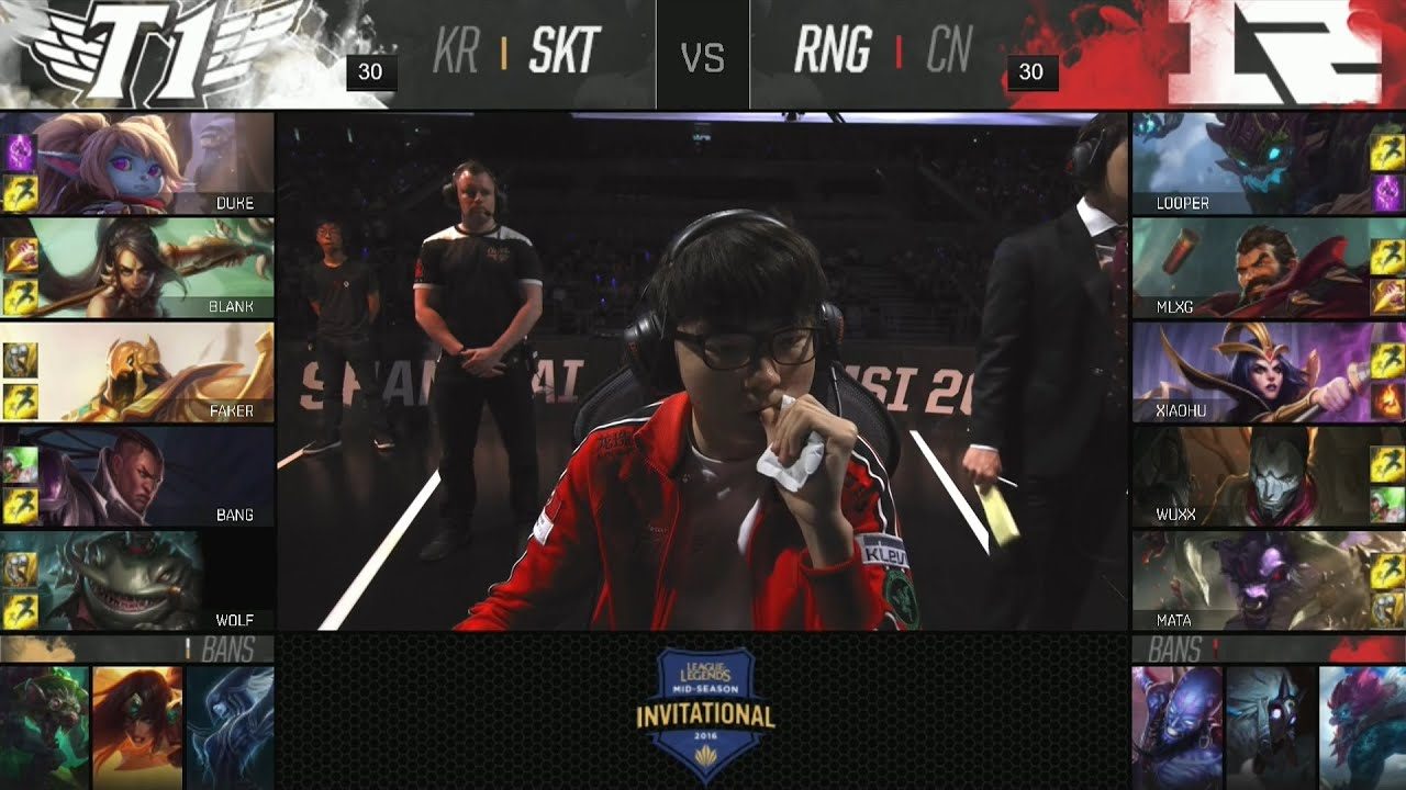 RNG hủy diệt Faker tại MSI : SKT vs RNG
