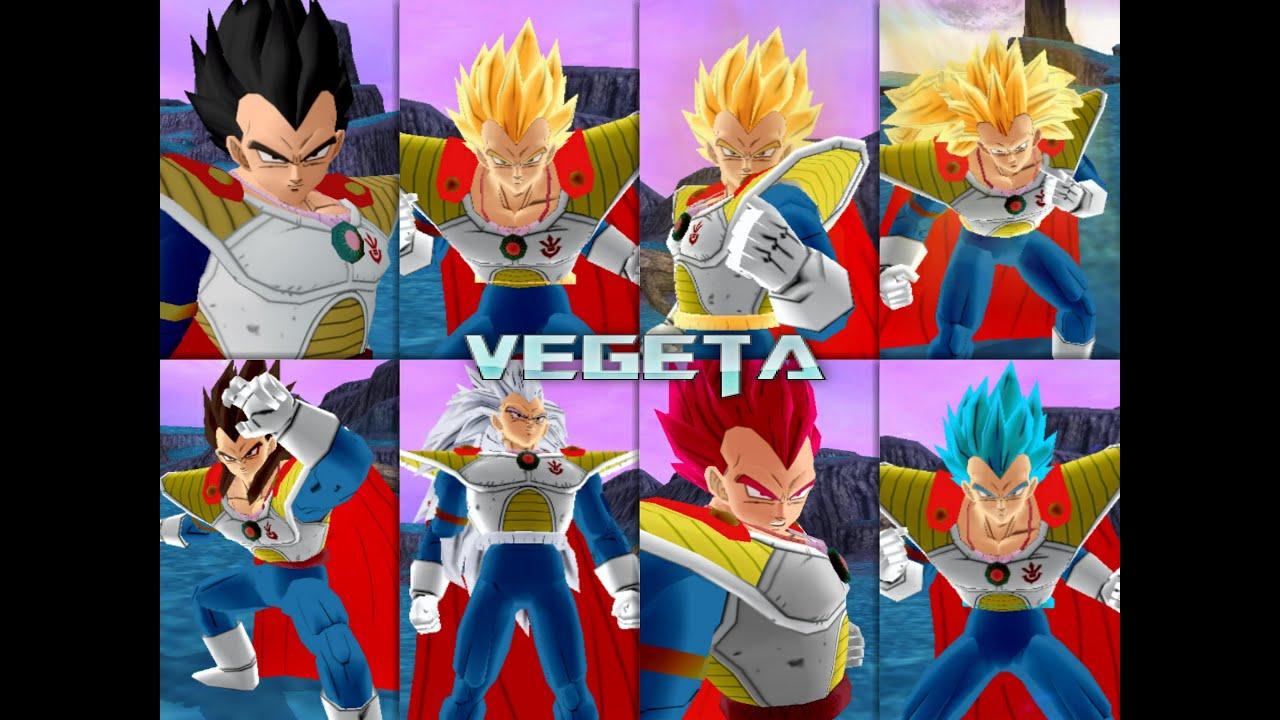 Vegeta prince all form hq dragon ball z budokai tenkaichi 3 youtube - Vegeta all forms ...