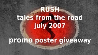 Rush - Tales From the Road - Snakes and Arrows Poster Giveaway Failure