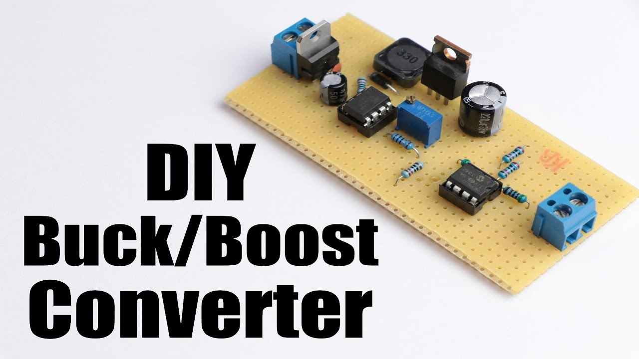 diy buck boost converter flyback how to step up down dc voltage efficiently youtube [ 1280 x 720 Pixel ]