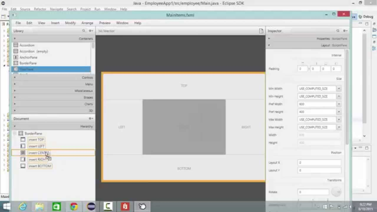 Javafx with scene builder lecture 2 buttons load main for Find a builder com