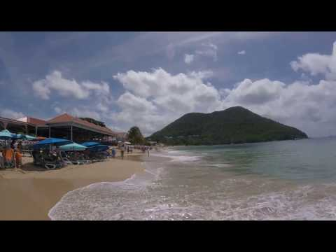 Beach Walk in Rodney Bay, St. Lucia - March 2016- GoPro 4 Sessions