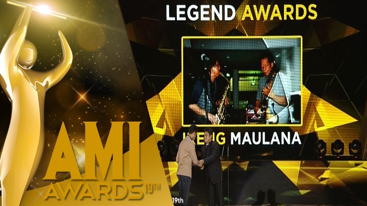 Ireng Maulana terpilih menjadi pemenang nominasi AMI Legend Awards 2016 (via youtube)