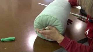 كيفية جعل Neckroll يغطي وسادة أو دعم يغطي وسادة