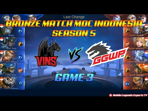 Vins Esport VS GGWP.id - Bronze Match GAME 3 MDC SERIES Indonesia Season 5