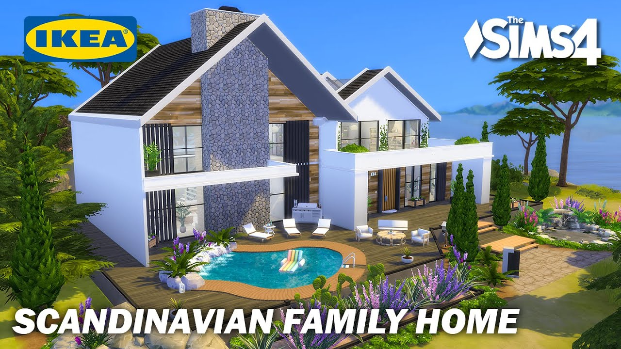 Scandinavian Family Home Ikea Style | No CC | Artworks | Stop Motion | Sims 4