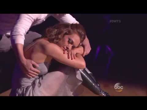 Derek Hough & Amy Purdy dancing Contemporary with judges comments on DWTS 3 31 14