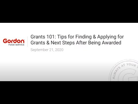Webinar - Grants 101: Finding, Applying And Being Awarded