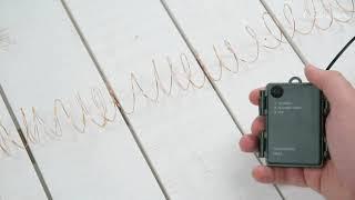 Vidéo: Guirlande piles extérieur 3M 30 micro led blanc chaud 2 modes fixe et flash étanches