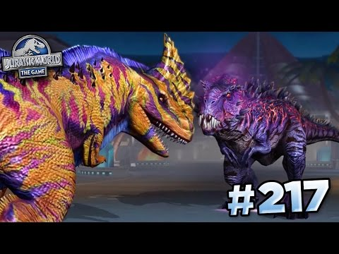 OMEGA 09 TAKES ON MAXED RAJASTEGA!!! || Jurassic World - The Game - Ep217 HD
