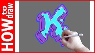 Как нарисовать граффити буквы, К № 1(INSTAGRAM: https://www.instagram.com/dmitrysyrman/ Я в ВКОНТАКТЕ: http://vk.com/syrman_d Группа в ВКОНТАКТЕ: http://vk.com/public59608073 I'm on ..., 2016-09-24T02:53:45.000Z)