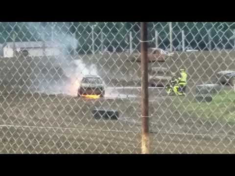 Car on Fire - Grand Rapids Speedway, Aug 2017