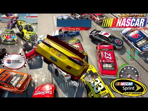 Nascar'15 The Game Texas Motor Speedway Cars in the Air Best Extreme Longer Crash Compilation