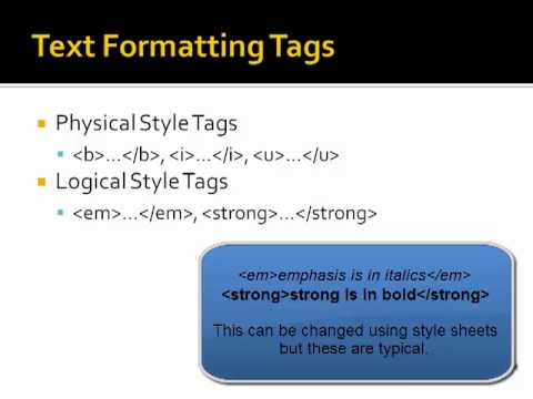 Basic HTML Tags Using PSPad