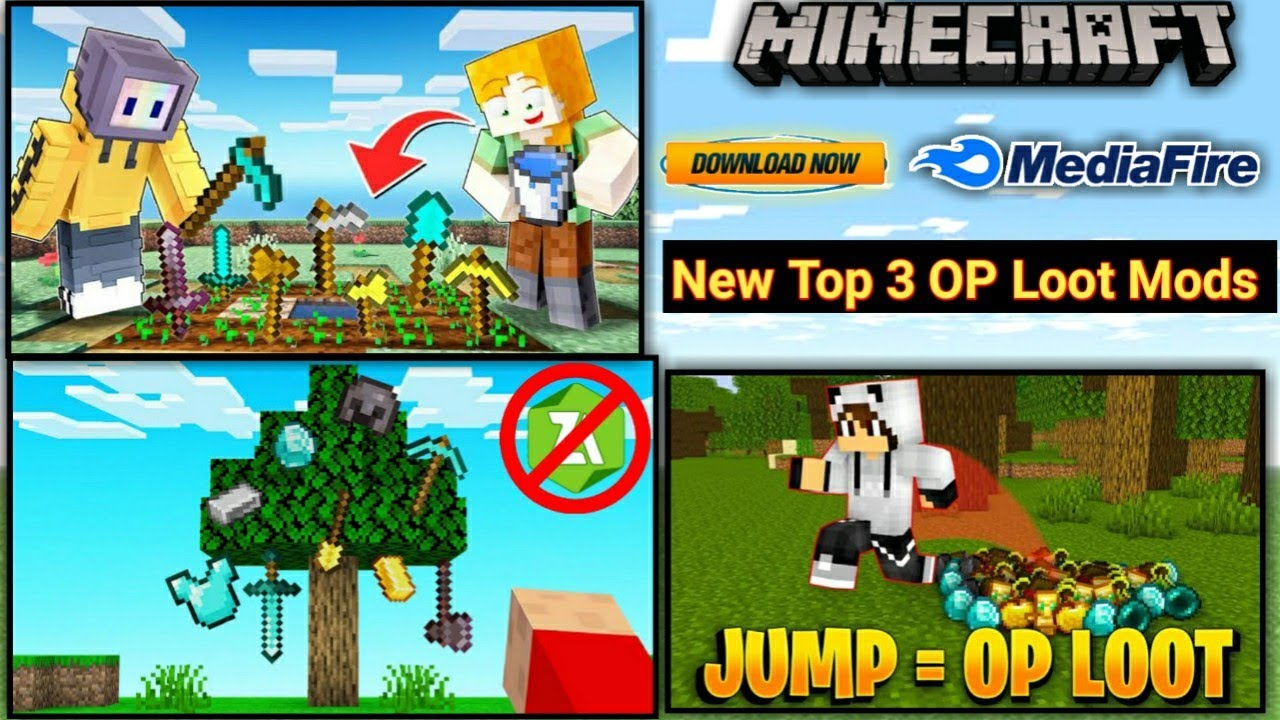 Download How To Download New Top 3 Op Loot Mods In Minecraft PE ! MEDIAFIRE【UNIVERSE GAMER】