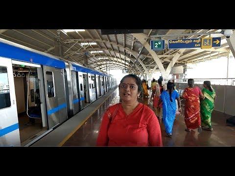 How to travel in Chennai Metro Train : St Thomas Mount to Koyambedu