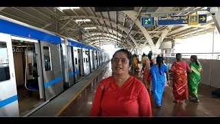 How to travel in Chennai Metro Train : St Thomas Mount to Koyambedu