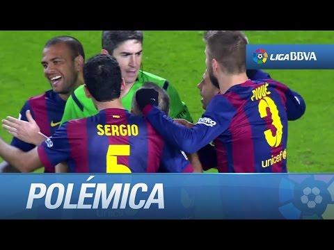 Polémica: gol de penalti de Mandzukic (2-1) en el FC Barcelona - Atlético - HD