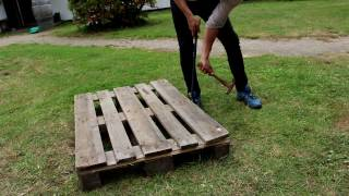 A funnt little DIY video project about building a pallet coffee table.