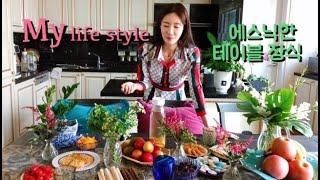ENG Vlog 에스닉 스타일의 디져트 테이블 데코 장…
