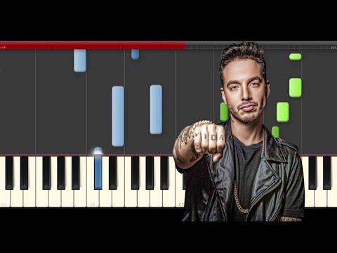 J Balvin Bobo piano midi tutorial sheet partitura cover karaoke how to play