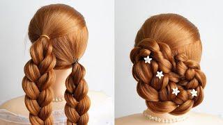 Easy Bun Hairstyles With Braiding Hair Simple Hairstyle For Girl New Hairstyle For Bridal