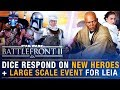 DICE Answer on UPCOMING NEW HEROES + Porting Heroes + Large Scale Leia Event | Battlefront Update