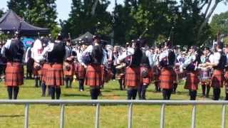 Simon Fraser University SFU Grade 1 Pipe Band Medley Victoria Highland Games 2015