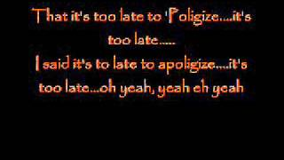Pixie Lott- Apologize lyrics