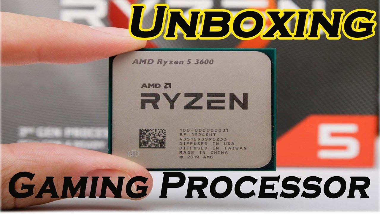 AMD Ryzen 5 3600 Desktop Processor 6 Cores up to 4 2 GHz 35MB Cache AM4 Socket UNBOXING