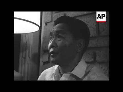 CAN662 PRESIDENT ELECT FERDINAND MARCOS SPEAKS TO PRESS