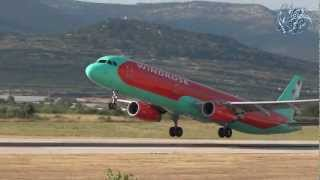 Windrose Aviation - Airbus A321-231  UR-WRH - Takeoff from SPU/LDSP Split airport