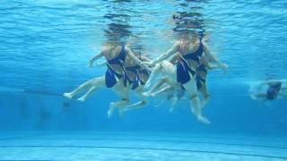 Synchro-swimming in Tartu Aura