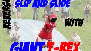 Reverse Slip n Slide (Funny Fails with T Rex)