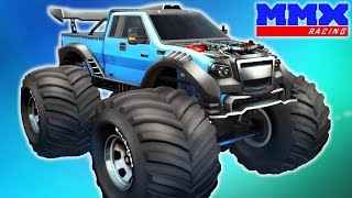 MMX Hill Climb NEW TRACKS AND CARS! Game a cartoon about RACING cars Monster Truck