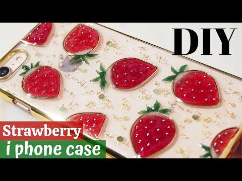 🍓【uv-resin-tutorials】making-a-strawberry-phone-case/diy