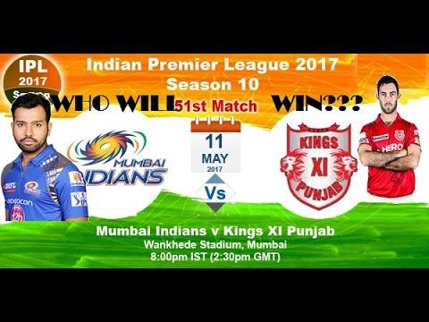 11th may Mumbai Indians vs Kings XI Punjab World Cricket Championship 2 2017 Gameplay