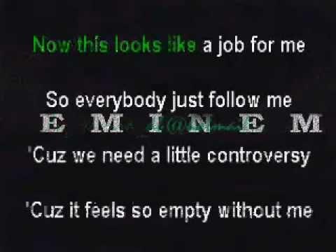 eminem - Without Me KARAOKE lyrics