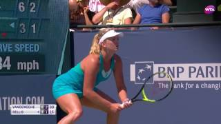 2017 Bank of the West Classic Semifinals | Coco Vandeweghe vs CiCi Bellis | WTA Highlights
