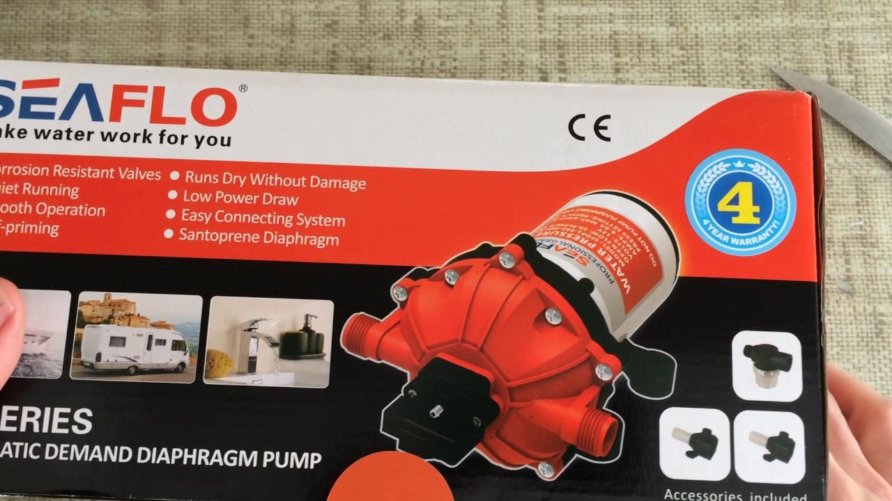 Unboxing SeaFlo Marine Water Pressure Pump 12 V DC 60 PSI 5 5 GPM