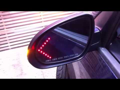 Side Mirror Led Arrow Turn Signal Glass Repeater Led Light Youtube