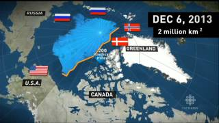 ► Canada and Russia jostle to claim territory and valuable resources near the North Pole