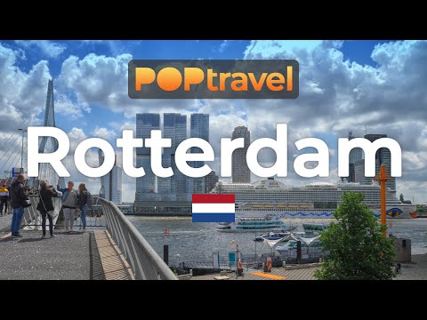 Walking in ROTTERDAM / Netherlands 🇳🇱- 4K 60fps (UHD)