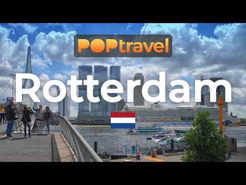 Walking In ROTTERDAM / Netherlands 🇳🇱- 4K 60fps (UHD)