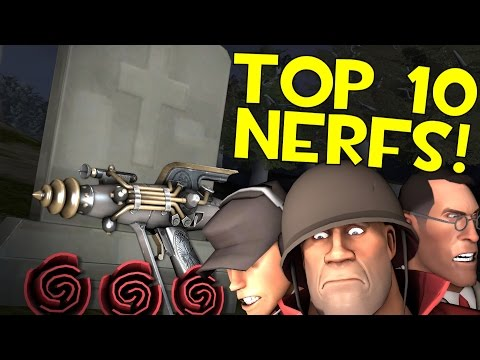 TF2 - Top 10 Loadouts KILLED by Nerfs!