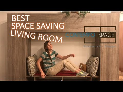 Extreme Living Room Storage Hack !! BEST Space Saving Idea For Your Room MAKEOVER !!