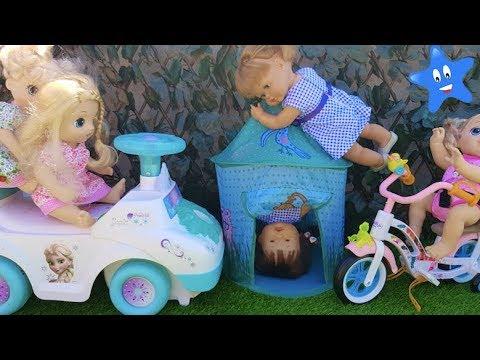 Ani y Ona DIVERSIÓN en el jardín ⭐️Piano Gigante⭐️Casitas⭐️Mara y Tamara Baby Alive y Nenuco