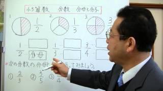 分数の分母と分子について説明してみました。 学年別の学習は、朋徳学院...
