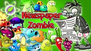 Plants vs Zombies 2 NEW Every Plant vs Camel and Newspaper Zombie Power UP Challenge Premium Plants